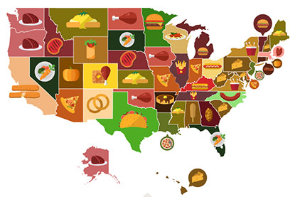 Game Day Snacks by State