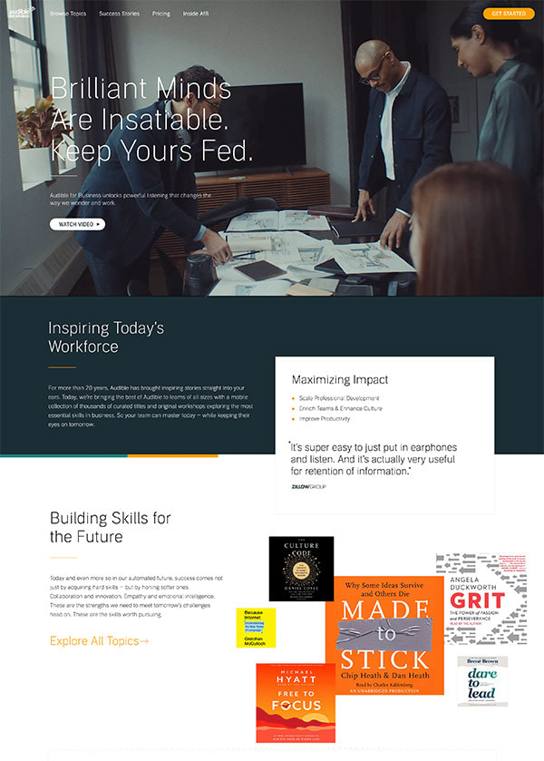 Audible for Business Website